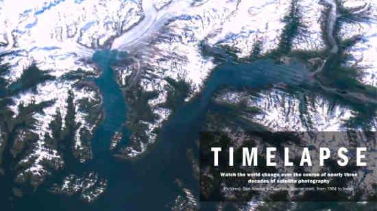 Timelapse Landsat Satellite Images of Climate Change via Google Earth Engine